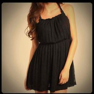 Black Crochet Summer Dress